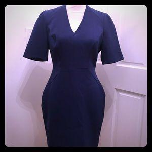 Reiss fitted deep royal blue dress